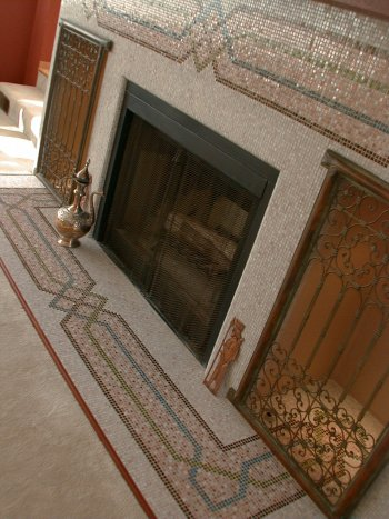 Moonshine Mosaics · Persian Fireplace