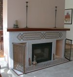 Monica Zinda's Moonshine Mosaics - Persian Fireplace