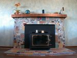 Monica Zinda's Moonshine Mosaics - Zen Fireplace
